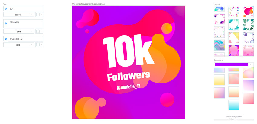 Instagram Post Maker for Thanking Your Followers