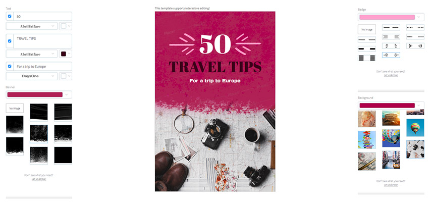 Pinterest Pin Template for European Travel Tips