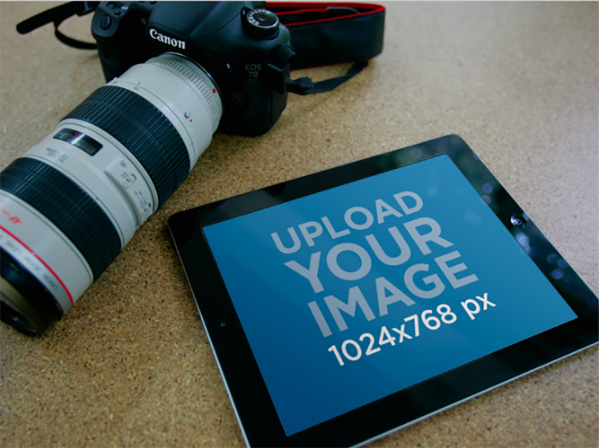iPad Mockup with Camera