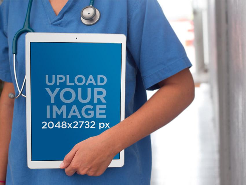 iPad Pro Health Mockup