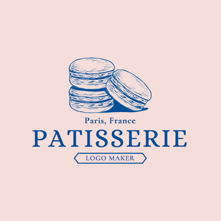 Patisserie Logo Maker for French Desserts