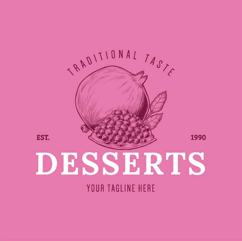 Logo Maker with Dessert Graphics