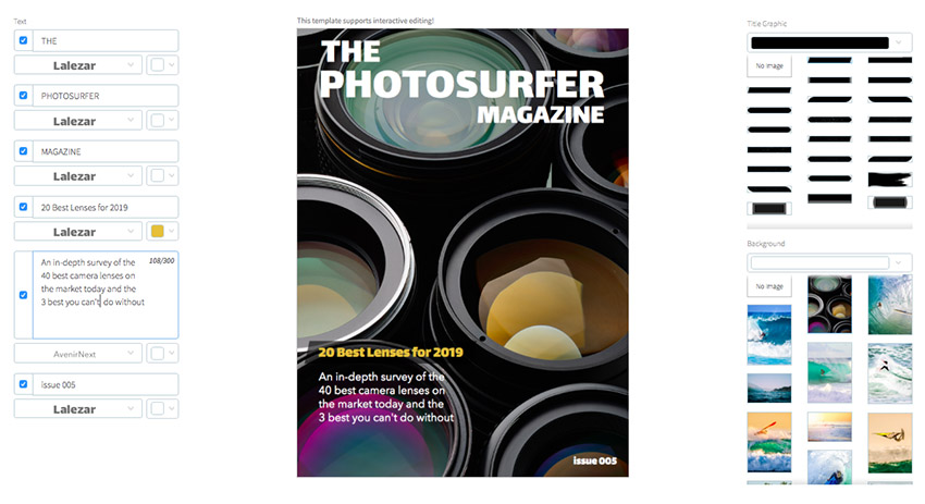 Photography Magazine Cover
