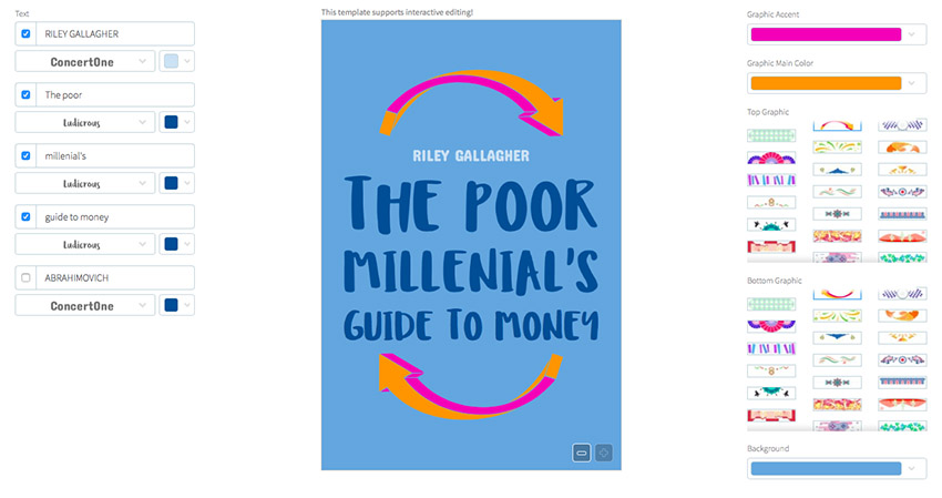 Book Cover Template for Financial Books