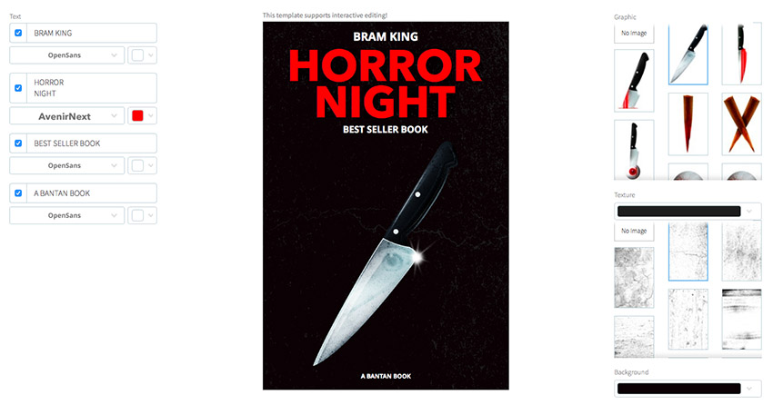 Horror Book Cover Maker