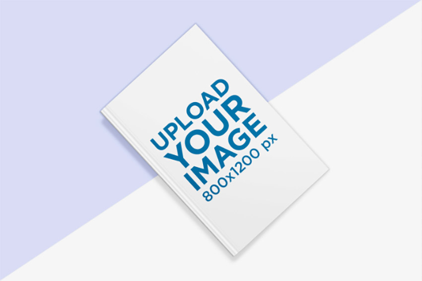 Book Mockup with a Bicolor Surface