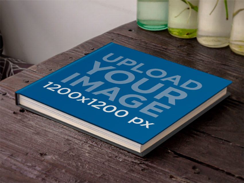 Book Over a Wooden Table