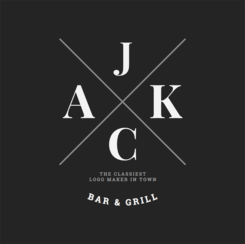 Bar ve Izgara Logo Üreticisi