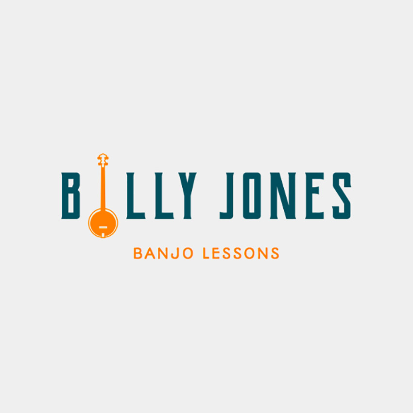 Online Logo Maker for Music Schools with Banjo Lessons
