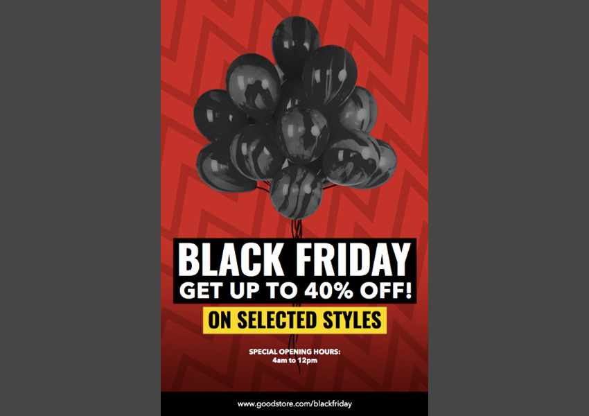 Flyer Template for Black Friday Sales
