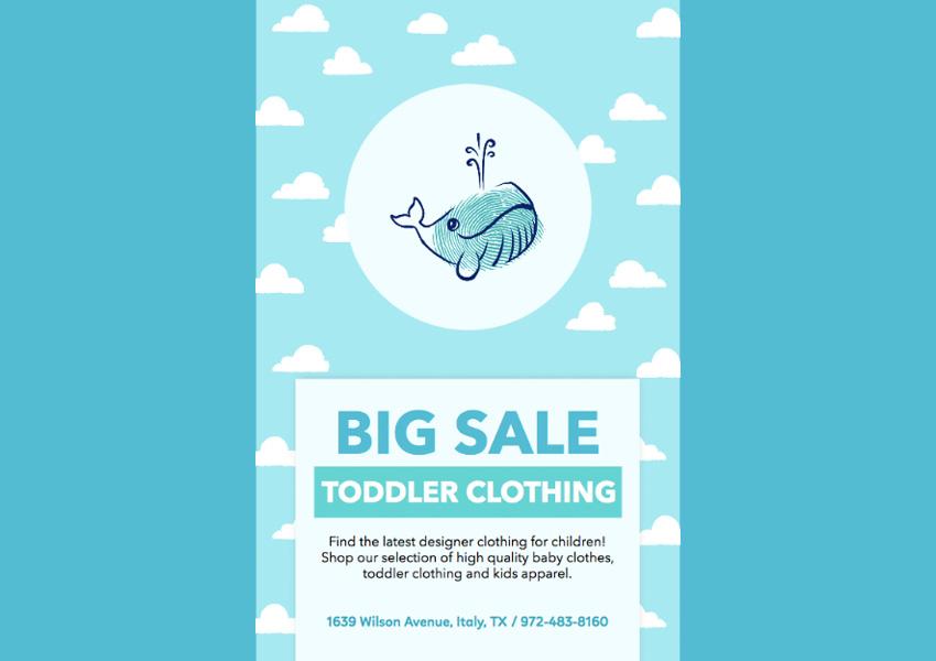 Childrens Clothing Brand Flyer Maker