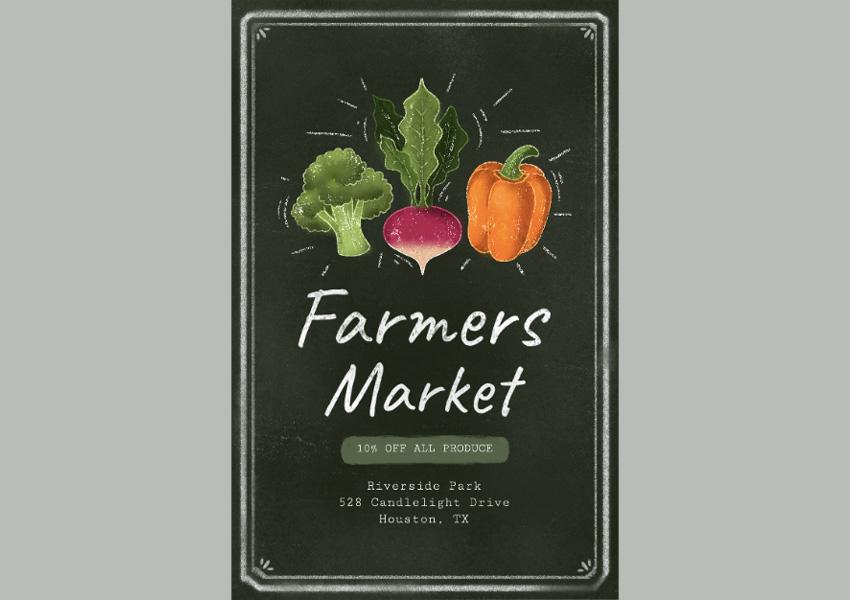 Farmers Market Flyer Maker