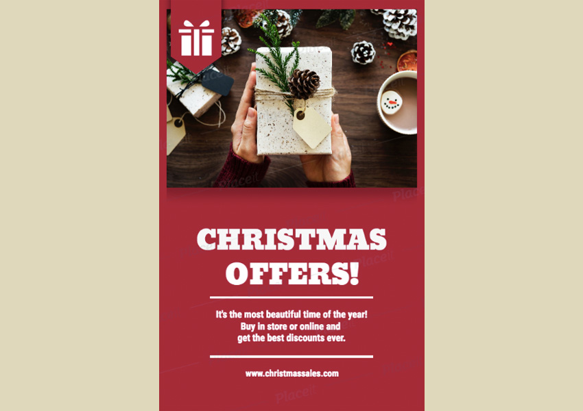 Holiday Flyer Maker for Christmas Offers