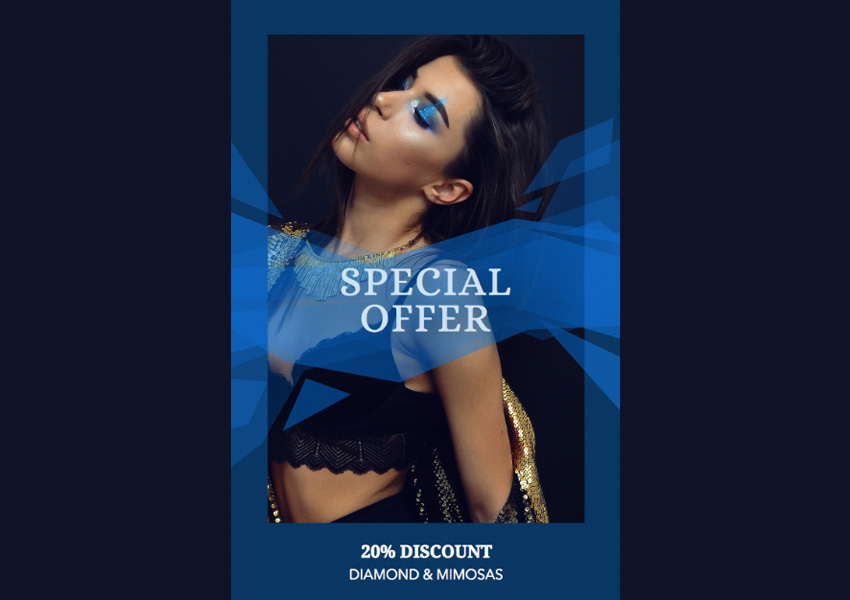 Online Flyer Creator for a Jewelry Ad - Blue Theme