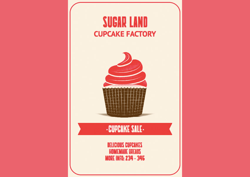 Online Flyer Creator for Cupcake Shops