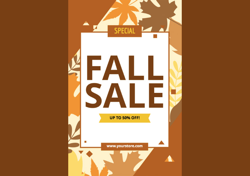 Sale Flyer Maker with Fall Theme