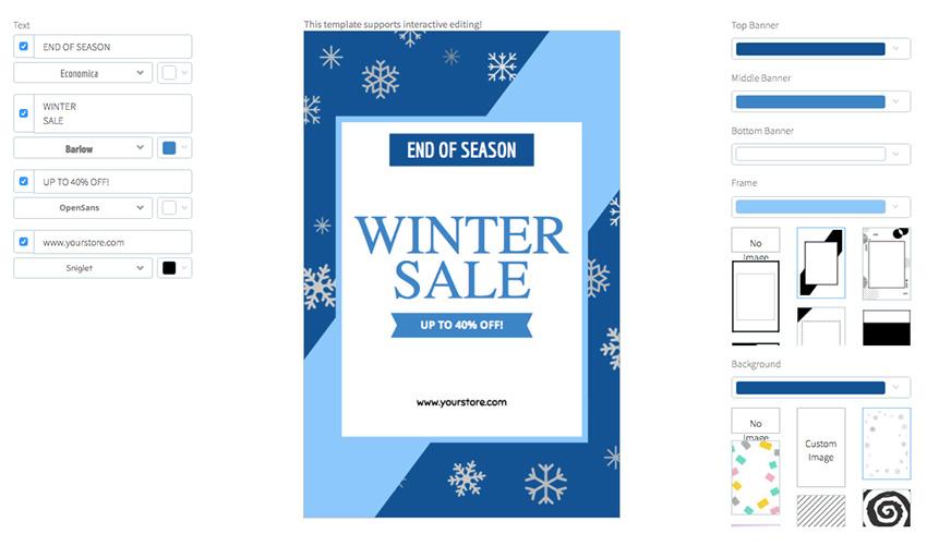Flyer Maker for Winter Sales