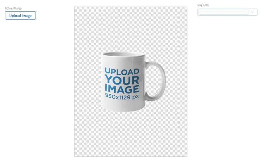 Coffee Mug Mockup Against a Transparent Backdrop