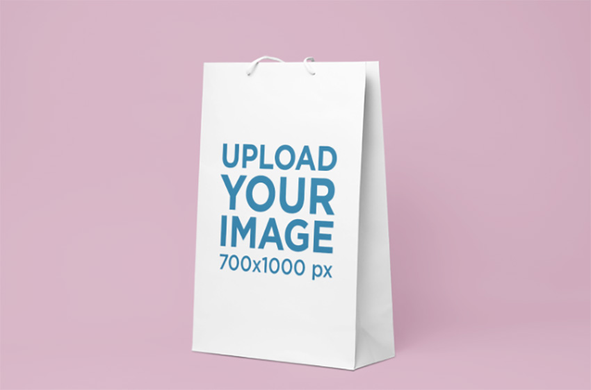 Mockup of a Gift Bag on a Solid Background