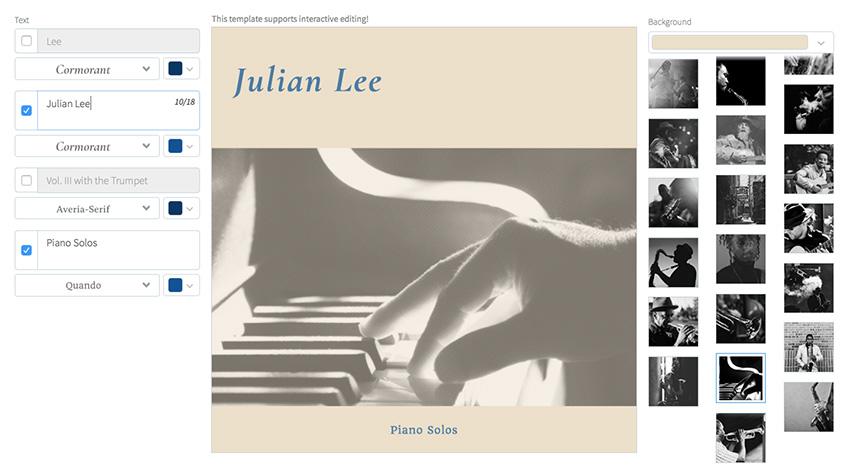 Jazz Album Cover Creator