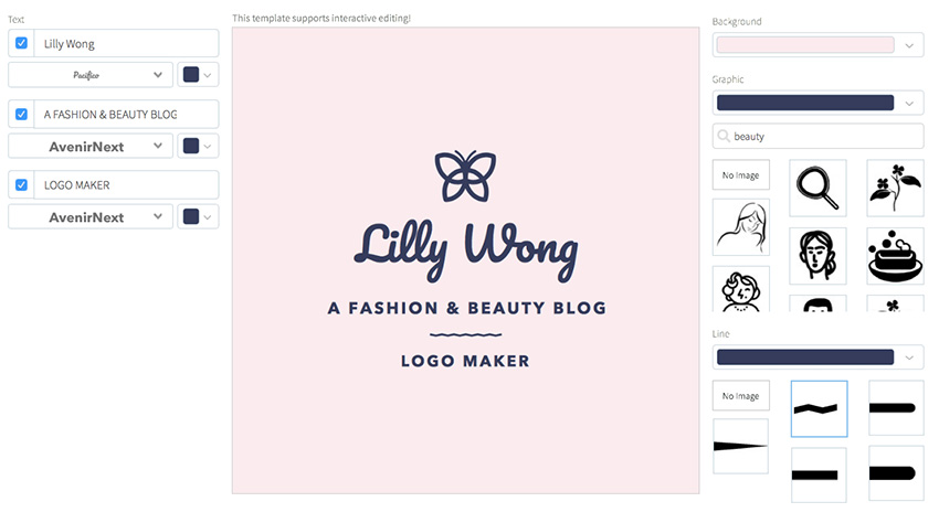 Beauty Logo Creator for Fashion Blogger