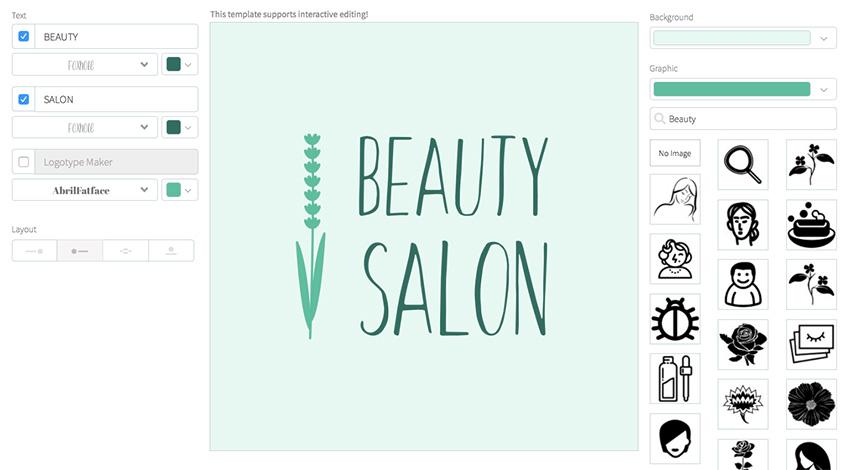 Beauty Salon Logo Maker with Floral Theme