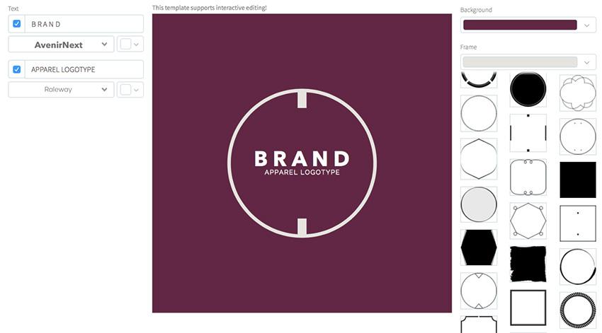 Clothing Brand Logo Maker - Simple Design