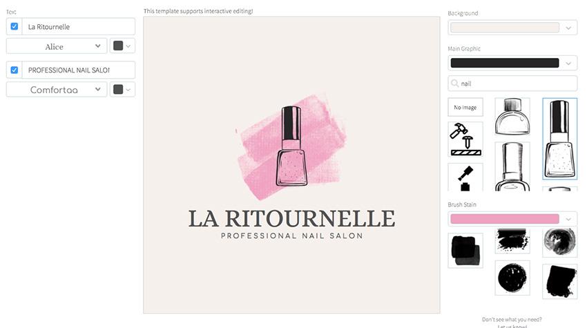 Logo Template to Design Your Own Nail Salon Logo