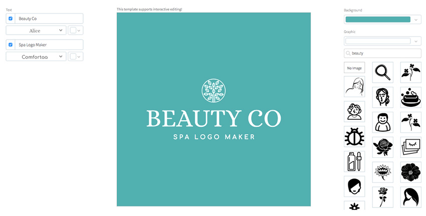 Natural Cosmetic Logo Maker with Nature Icons