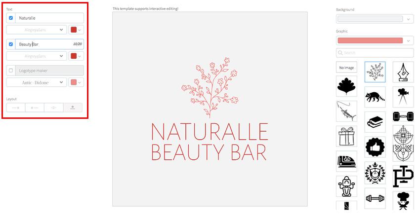 Beauty Salon Logo Maker with Flower Icon