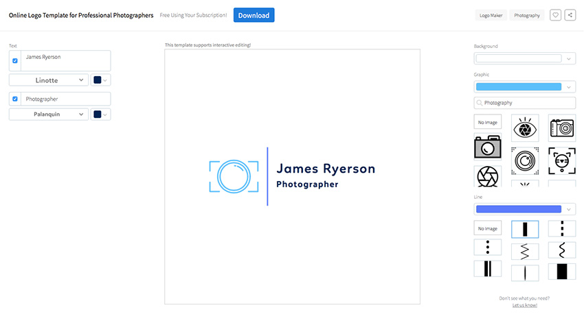 photography logo maker online free download