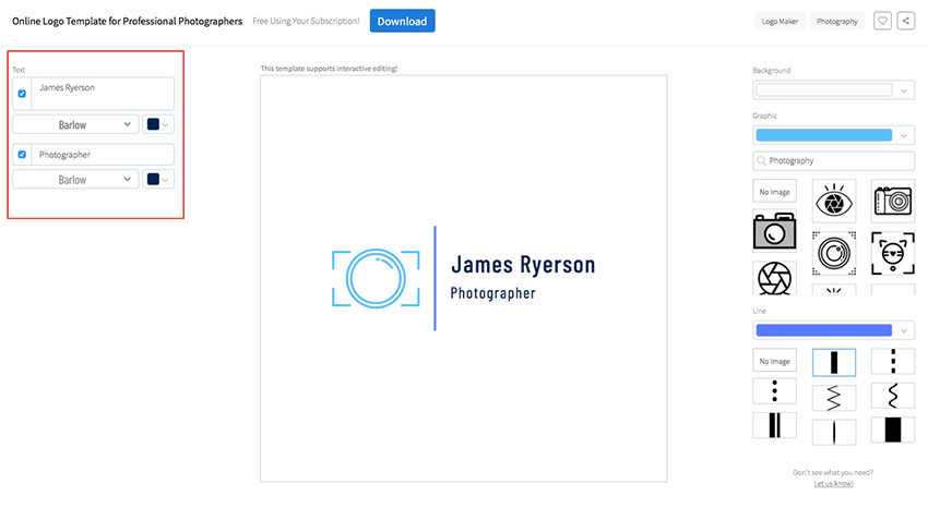 How To Make A Photography Logo Design Quickly With Online Creator