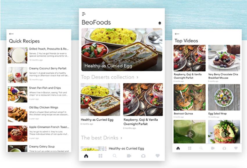 BeoNews Pro Reactive Native App Layout