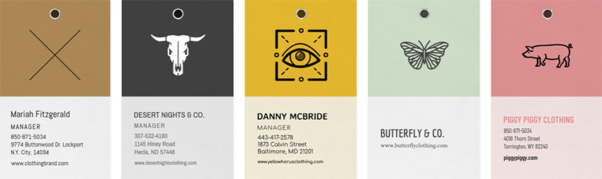 Apparel Brand Business Card Template