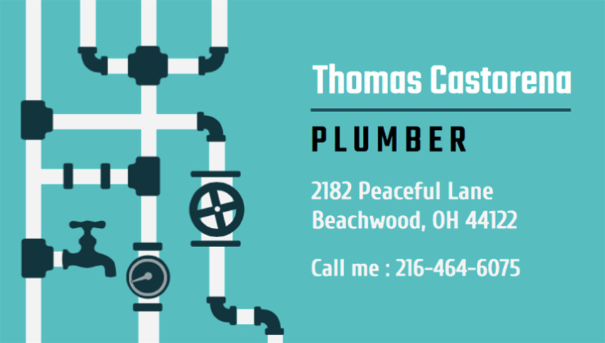 Business Card Generator for Plumbers