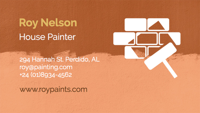 Business Card Maker for House Painters