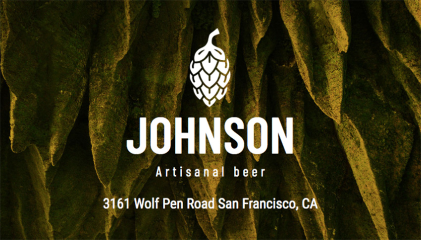 Online Business Card Maker for a Craft Brewery
