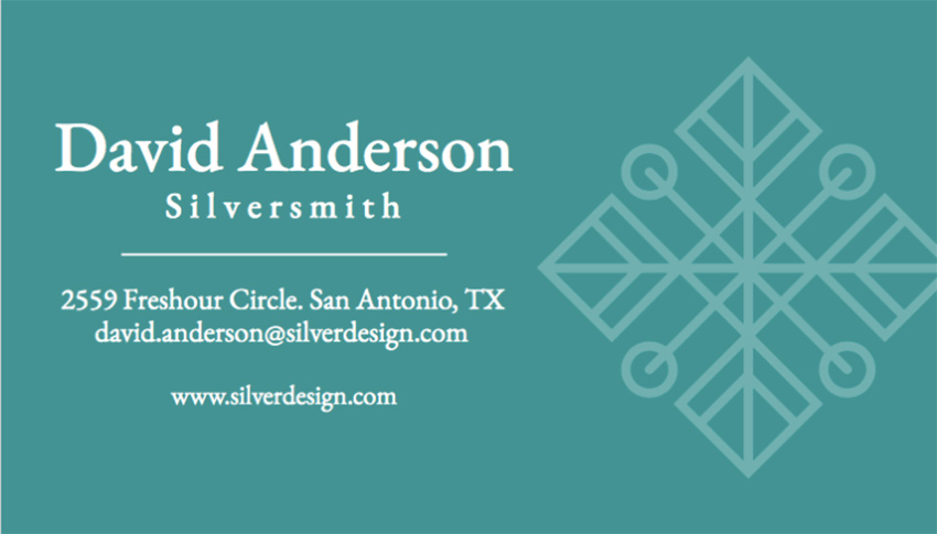 Online Business Card Maker to Design a Jewelry Business Card