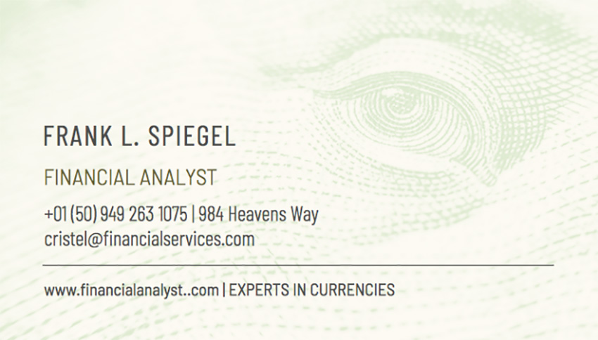 Business Card Maker for Financial Analysts