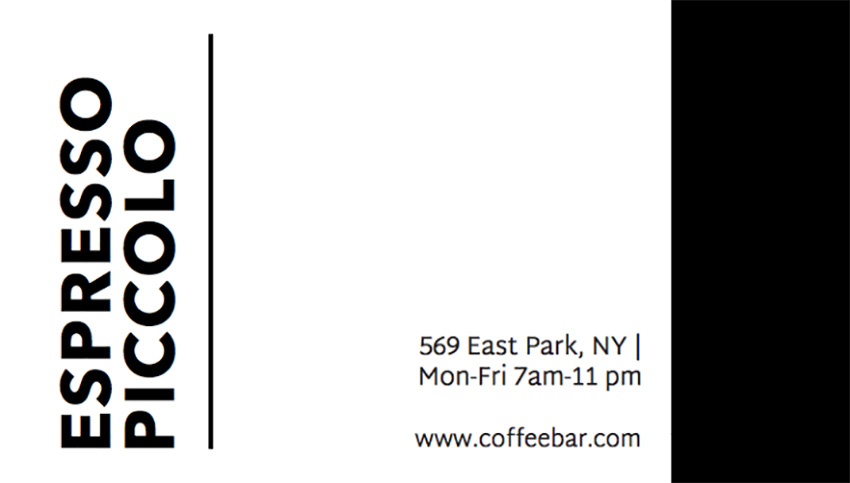 Business Card Template with Coffee Bean Graphics