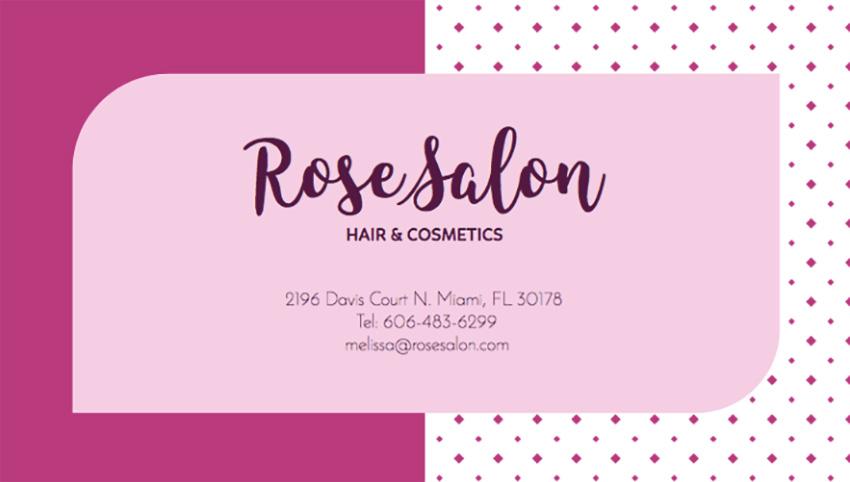 Hair Stylist Business Card Maker