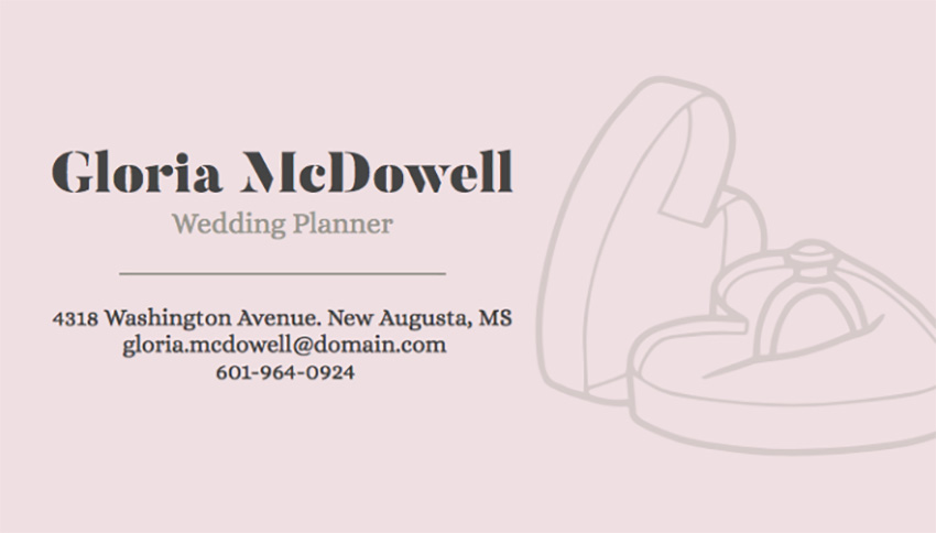 Stylish Wedding Planner Business Card Maker