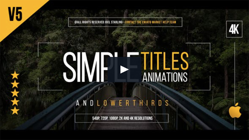 12 Amazing Apple Motion Title Templates