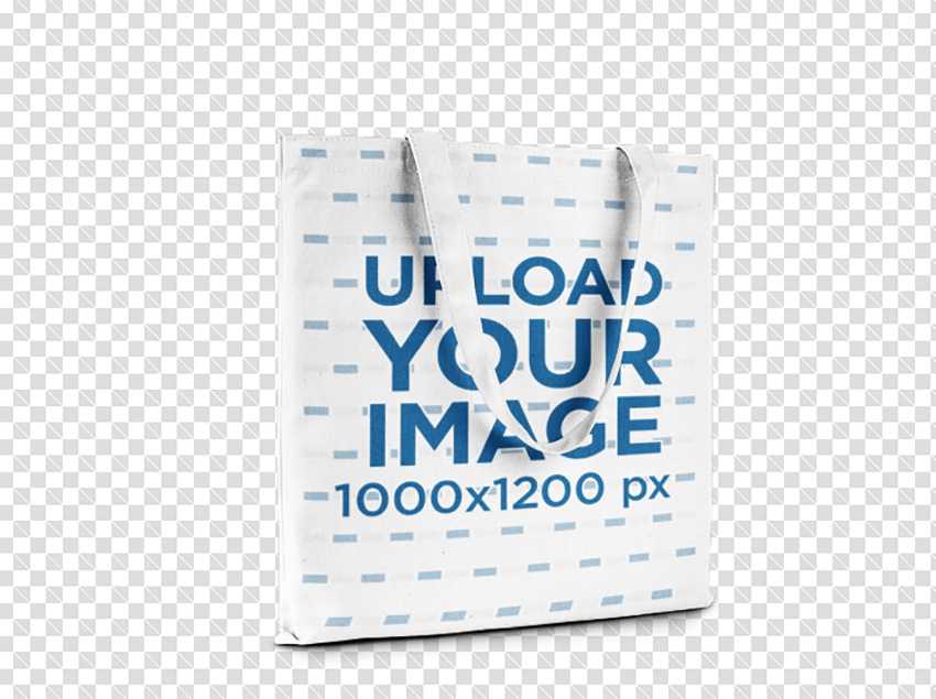Tote Bag Template Standing on a Transparent Background