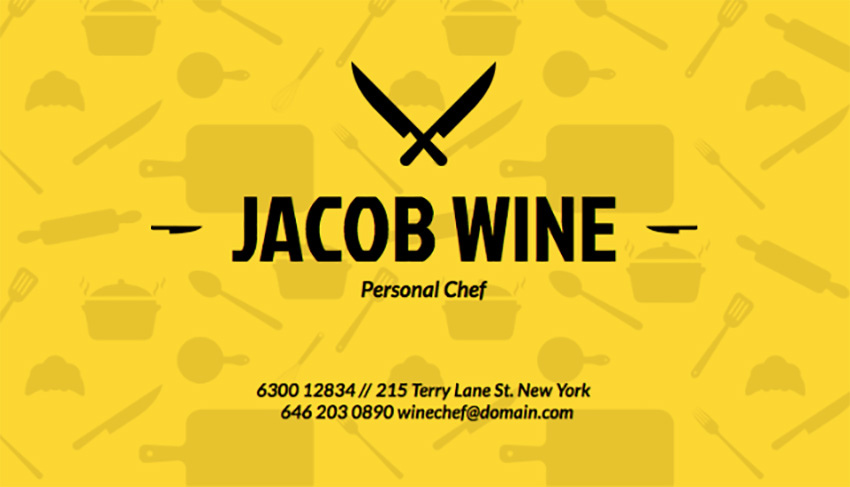 Business Card Template for Catering Businesses
