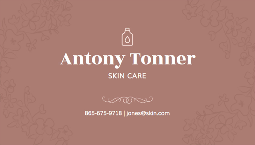 Dermatologist Business Card for Skin Card Businesses