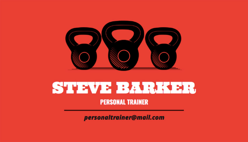 Personal Trainer Business Card Maker