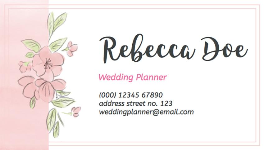 Wedding Planner Business Card Maker