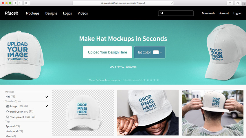 Placeits Hat Mockup