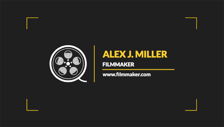 Business Card Maker for Film Studio Business Cards
